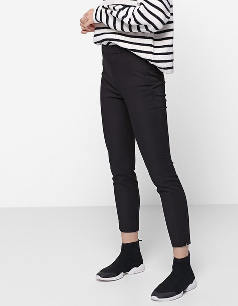Stradivarius fit black pants