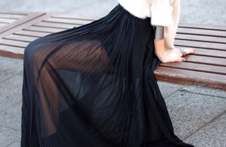 skirt black skirt maxi skirt style