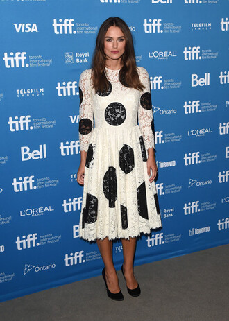 keira knightley dress black and white dress