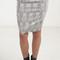 Filigree wallpaper jacquard pencil skirt
