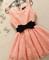 #512 flower layers puff dress