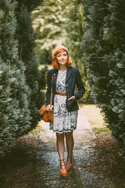 the clothes blogger jacket dress bag shoes