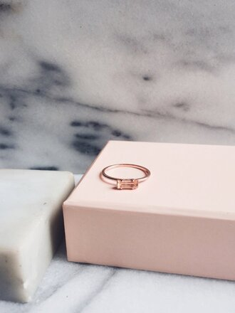 jewels ring rose gold ring crystal quartz crystal gift ideas valentines day valentines day gift idea mothers day gift idea