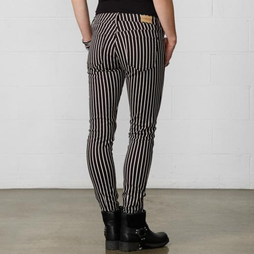 Piano-Striped Skinny Jean