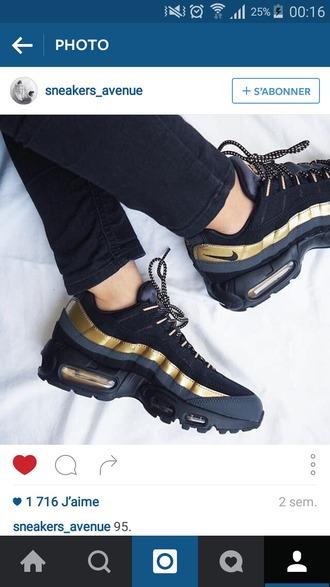 shoes nike nike sneakers nike shoes dope kicks girls sneakers black shoes gold shoes