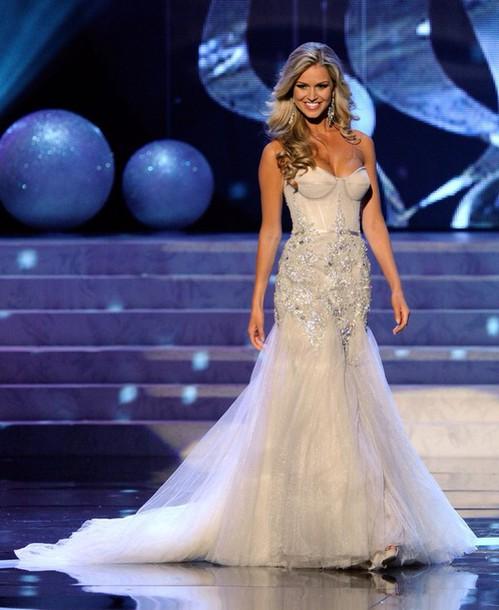 9e9f21dce9 prom dress long dress boning top diamanté diamonds cream victoria s secret  sequins bralette bralet dress