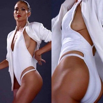 swimwear jennifer lopez white swimwear