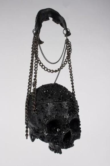 skull bag purse skull purse