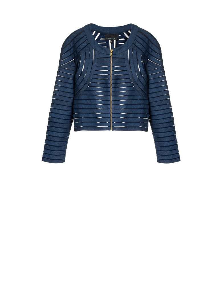 Cynthia Rowley Denim Mesh Jacket