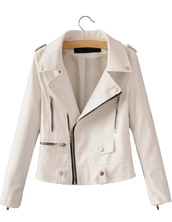 jacket,coat,white,moto,biker,zip,cool,brenda-shop,36683,trendy,faux leather,leather jacket