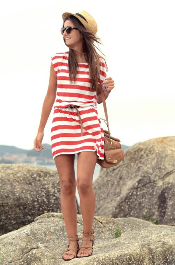 dress striped dress stripes summer dress beach beach dress