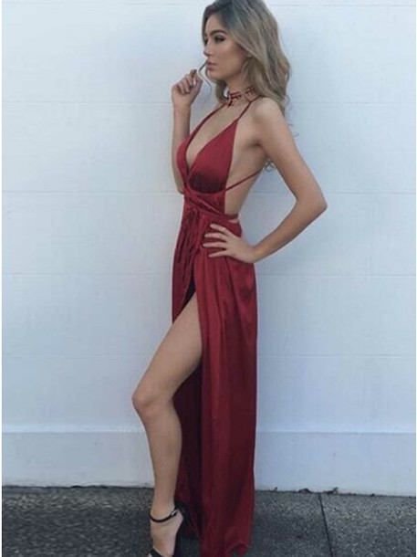 bad2a2164e dress red dress prom dress prom 2018 elegant dress simple dress fashion  dress party dress outfit