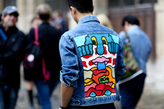 jacket denim jacket drawing streetstyle