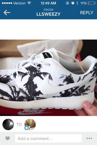 shoes nike running shoes roshes palm tree print