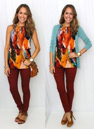 blouse beautifu fall outfits artsy colorful