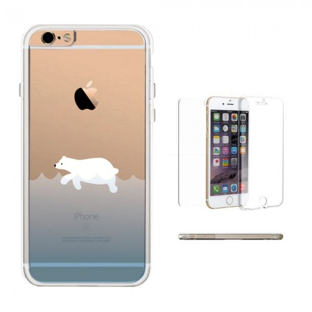 365♥ | 365Printing 360° Full Protection Polar Bear Clear Covers Transparent iPhone Cases