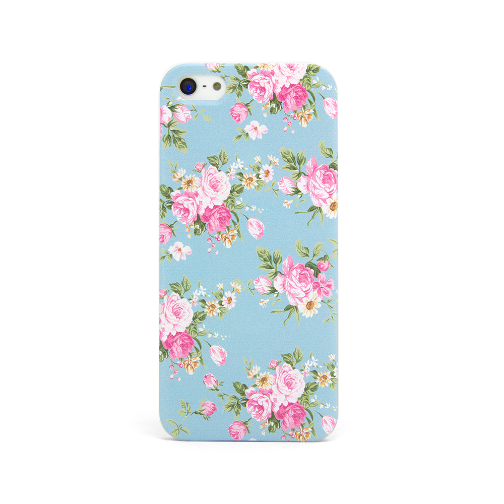 iPhone 5 and iPhone 5s Vintage Floral Baby Blue Case - Duchess Newbury