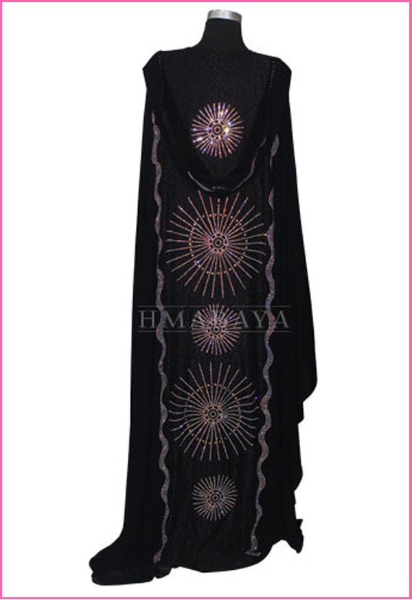 Women's Arabic Style Big Bunch Black Abaya