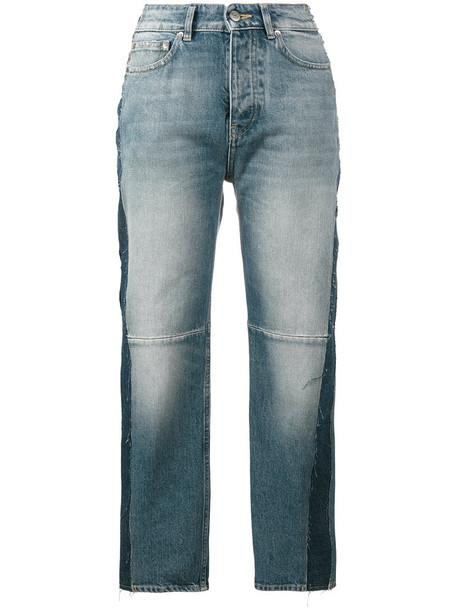 GOLDEN GOOSE DELUXE BRAND jeans high women cotton blue