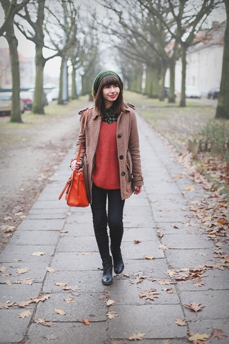 blogger bag kapuczina red sweater coat