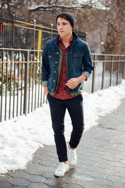 Jacket: scout sixteen menswear blogger mens sneakers hipster
