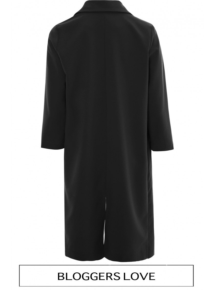 Black Long Lightweight Duster Coat