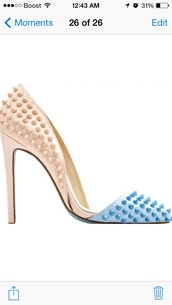 shoes,baby blue and beige,high heels,baby blue and beige high heels,baby blue and beige pumps,high heel pumps,pumps