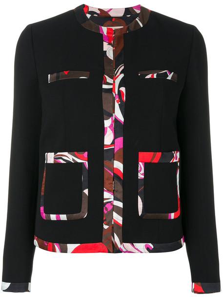Emilio Pucci blazer women spandex black jacket