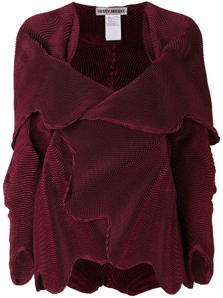 coat women pattern red