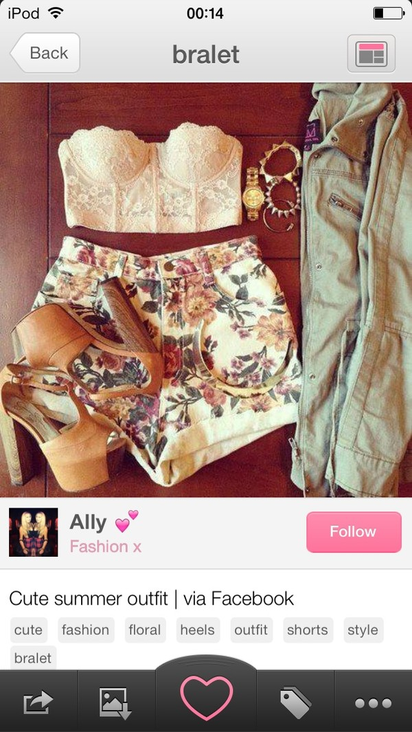 shorts girl clothes vintage floral flowered shorts denim High waisted shorts shirt shoes