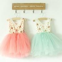 SALE - Mint Floral Tutu Dress · The Little Z Boutique · Online Store Powered by Storenvy