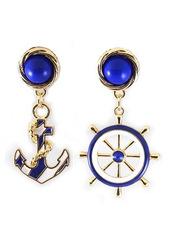 jewels,Choies,blue,anchor,drop-earring