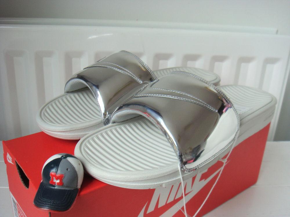 Nike Benassi Solarsoft Slide SP Liquid Silver US 9/UK 8 Gold/Max/Force/Lunar