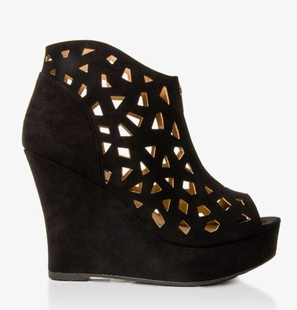 Shoes: forever new, wedges, heel, grunge, sold out, wedges ...