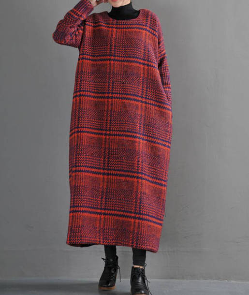 dress wool long dress