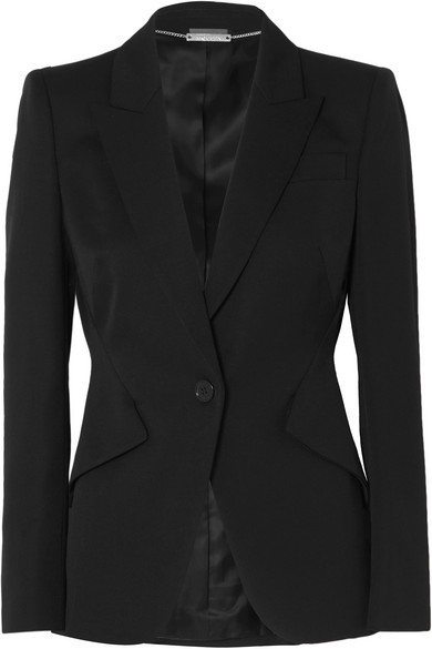 Alexander McQueen - Grain de poudre wool blazer