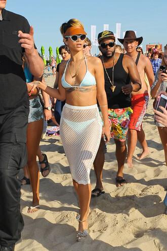 swimwear rihanna skirt