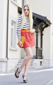 kayture,red skirt,skirt