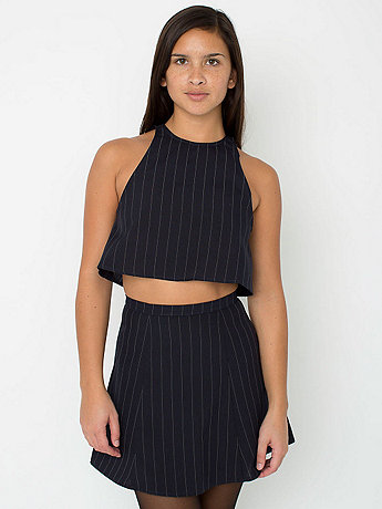 The pinstripe print lulu mini skirt