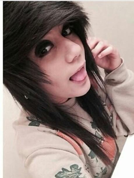 make-up emo grunge top striped top long sleeves