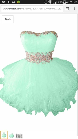 dress short mint dress