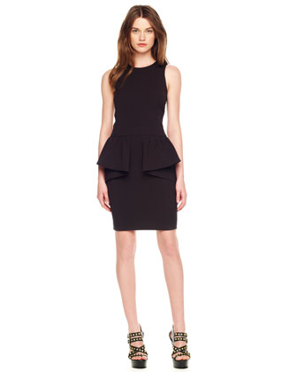 MICHAEL Michael Kors  Jersey Peplum Dress - Michael Kors