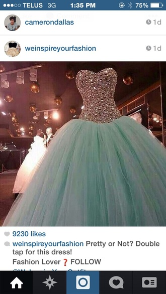 dress jewels teal dress blue dress shiny ball gown dress sparkly dress long dress turquoise dress sparkles prom dress graduation dress