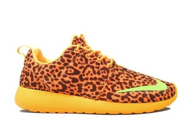 cfb148ab9835 Amazon.com  Nike Roshe Run FB Leopard - Bright Citrus Lime ...