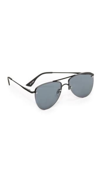 Le Specs The Prince Sunglasses - Matte Black/Smoke Mono