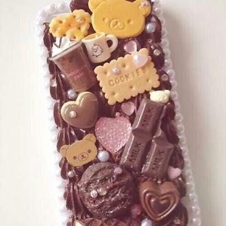 phone case iphone 5 case brown dress cookies