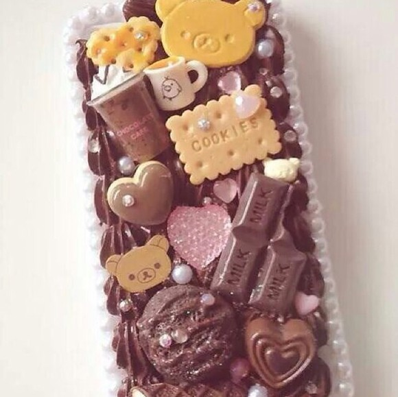 brown dress phone case iphone 5 case cookies