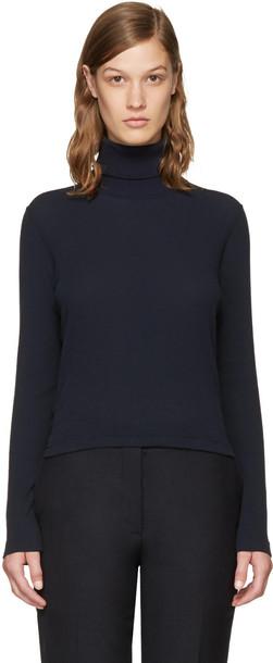 Thom Browne turtleneck long navy sweater