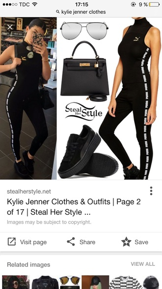 jumpsuit black puma black jumpsuit sportswear
