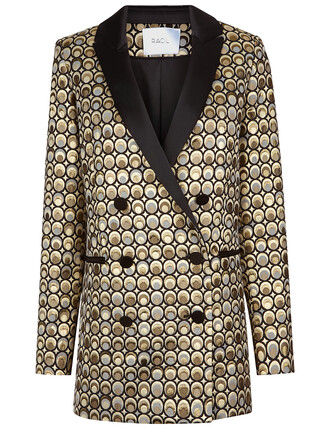 jacket jacquard gold